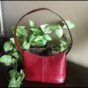 FOSSIL cranberry red shoulder bag